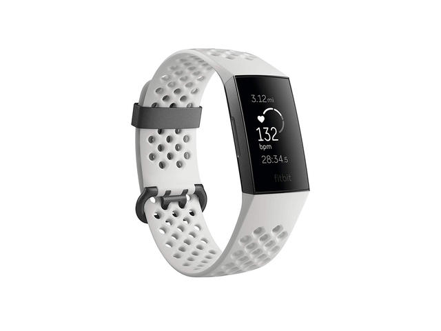 Гривни Fitbit Charge 3 Special Edition, Graphite / White Silicone