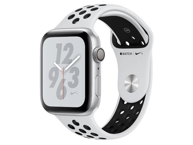 Смарт часовници Apple Watch Nike+ S4 44mm Silver Aluminium Case with Platinum/Black Nike Sport Band