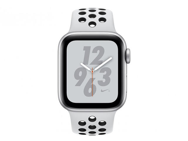 Смарт часовници Apple Watch Nike+ S4 40mm Silver Aluminium Case with Platinum/Black Nike Sport Band