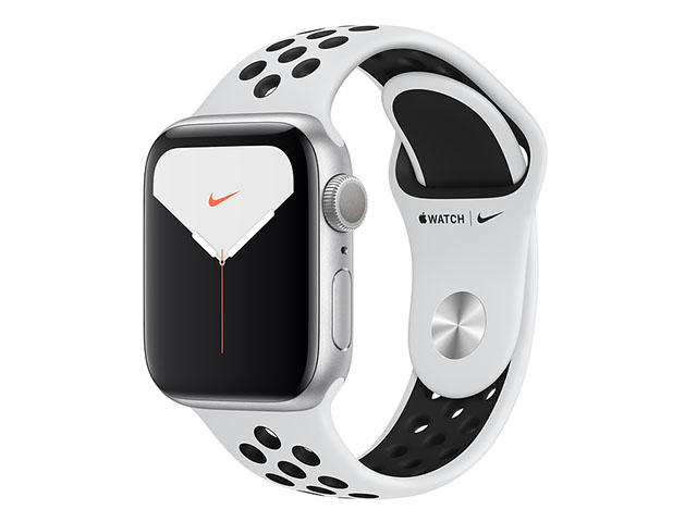Смарт часовници Apple Watch Nike S5 GPS 44mm Silver Aluminium Case with Pure Platinum/Black Nike Sport Band
