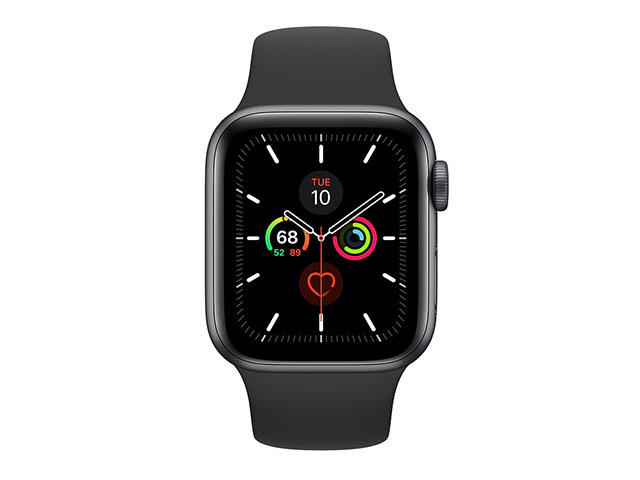 Смарт часовници Apple Watch S5 GPS 44mm Space Grey Aluminium Case with Black Sport Band