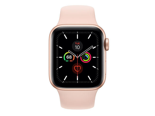 Смарт часовници Apple Watch S5 GPS, 40mm Gold Aluminium Case with Pink Sand Sport Band
