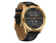 Смарт часовници Garmin Vivomove Luxe 24K Gold/Black Embossed