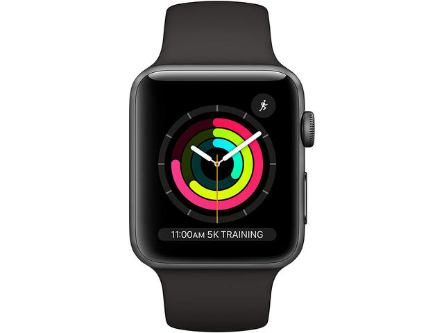 Смарт часовници Apple Watch 3 GPS Space Grey Aluminium Case with Black Sport Band
