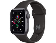 Смарт часовници Apple Watch SE GPS, 44mm Space Gray Aluminium Case with Black Sport Band - Regular