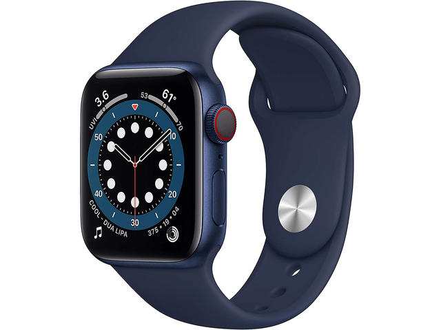 Смарт часовници Apple Watch S6 GPS, 40mm Blue Aluminium Case with Deep Navy Sport Band - Regular