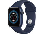 Смарт часовници Apple Watch S6 GPS, 44mm Blue Aluminium Case with Deep Navy Sport Band - Regular