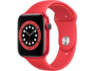 Смарт часовници Apple Watch S6 GPS, 44mm RED Aluminium Case with RED Sport Band - Regular